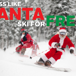 Santa Skis FREE at Brighton!