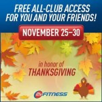 FREE Thanksgiving Week Gym Pass at 24 Hour Fitness